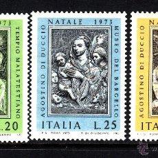 Sellos: ITALIA 1160/62** - AÑO 1973 - NAVIDAD - ARTE RELIGIOSO - OBRAS DE AGOSTINO DI DUCCIO. Lote 209069113
