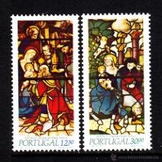 Sellos: PORTUGAL 1594/95** - AÑO 1983 - NAVIDAD - VIDRIERAS DEL MONASTERIO DE SANTA MARIA DA VITORIA . Lote 42784886