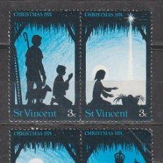 Sellos: SAN VICENTE Nº 393/6, NAVIDAD 1974, NUEVO ***. Lote 43102930