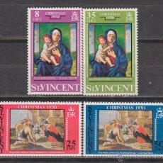 Sellos: SAN VICENTE Nº 308/11, NAVIDAD 1970, CUADROS DE BELLINI Y LE NAIN, NUEVO ***. Lote 43103341