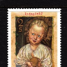 Sellos: AUSTRIA 1208** - AÑO 1971 - NAVIDAD - PINTURA RELIGIOSA - OBRA DE DURERO. Lote 144058902