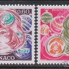 Sellos: MONACO IVERT 1072/3, NAVIDAD 1976, NUEVO***. Lote 45709418