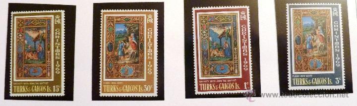 SELLOS TURKS Y CAICOS 1969. NAVIDAD. 4 VALORES NUEVOS. (Sellos - Temáticas - Navidad)