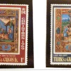 Sellos: SELLOS TURKS Y CAICOS 1969. NAVIDAD. 4 VALORES NUEVOS.. Lote 46992179