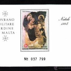 Sellos: ORDEN DE MALTA F 236** - AÑO 1984 - NAVIDAD - PINTURA RELIGIOSA. Lote 151550094
