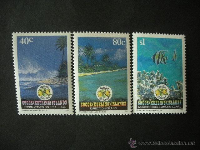 COCOS - ISLAS 1992 IVERT 264/6 *** NAVIDAD - PAISAJES Y NATURALEZA (Sellos - Temáticas - Navidad)