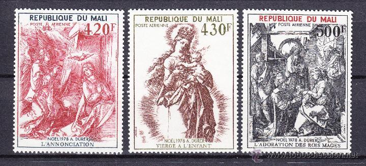 MALI AEREO 346/48** - AÑO 1978 - NAVIDAD - PINTURA - 450º ANIVERSARIO DE LA MUERTE DE DURERO (Sellos - Temáticas - Navidad)