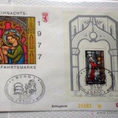 Sellos: ALEMANIA 1977 SOBRE PRIMER DIA CIRCULACION RELIGION- NAVIDAD- CHRISTMAS- NACIMIENTO- BELEN- FDC. Lote 54784236