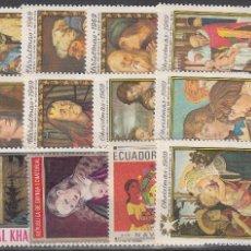 Sellos: LOTE DE 12 SELLOS DE BUENA CALIDAD DE NAVIDAD.. Lote 55811742