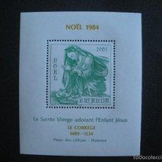 Sellos: RWANDA 1984 HB IVERT 99 *** NAVIDAD - CUADRO DE CORREGE - PINTURA. Lote 56483583