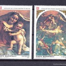 Sellos: ORDEN DE MALTA 227/28** - AÑO 1983 - NAVIDAD - PINTURA RELIGIOSA. Lote 57718561