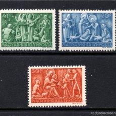 Sellos: HUNGRIA 646/48** - AÑO 1943- NAVIDAD. Lote 133352015