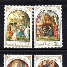 Sellos: SANTA LUCIA 578/81** - AÑO 1982 - NAVIDAD - PINTURA RELIGIOSA. Lote 267419124