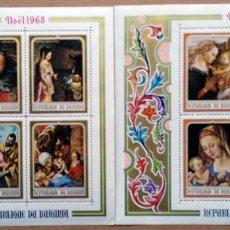 Sellos: NAVIDAD - BURUNDI 1968 - NR. MICHEL: B30/31 - PINTURA RELIGIOSAS . Lote 62375284