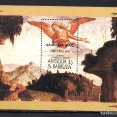 Sellos: BARBUDA HB 98** - AÑO 1986 - NAVIDAD - PINTURA RELIGIOSA - OBRA DE ANTONIAZZO ROMANO. Lote 65982626