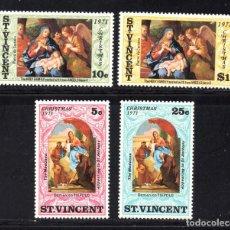 Sellos: SAN VICENTE 302/05** - AÑO 1971 - NAVIDAD - PINTURA RELIGIOSA - OBRAS DE TIEPOLO Y CORTONA. Lote 67559025
