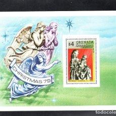 Sellos: GRANADA GRANADINAS HB 45** - AÑO 1979 - NAVIDAD - VIRGEN DE KRUMAU. Lote 67638577
