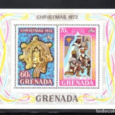 Sellos: GRANADA HB 24** - AÑO 1972 - NAVIDAD. Lote 113044574