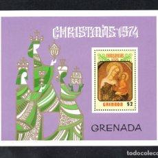 Sellos: GRANADA HB 35** - AÑO 1974 - NAVIDAD - PINTURA RELIGIOSA - OBRA DE NICCOLO DI PIETRO. Lote 113044606
