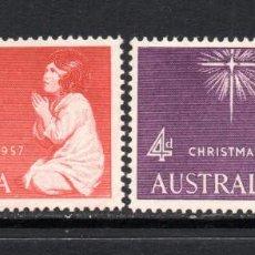Sellos: AUSTRALIA 242/43** - AÑO 1957 - NAVIDAD. Lote 144058933
