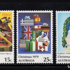 Timbres: AUSTRALIA 681/83** - AÑO 1979 - NAVIDAD - PINTURA RELIGIOSA. Lote 75563103