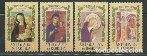 ANTIGUA Y BARBUDA 1985 IVERT 881/4 *** NAVIDAD - PINTURA RELIGIOSA (Sellos - Temáticas - Navidad)