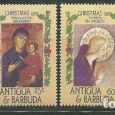 Sellos: ANTIGUA Y BARBUDA 1985 IVERT 881/4 *** NAVIDAD - PINTURA RELIGIOSA. Lote 81667140