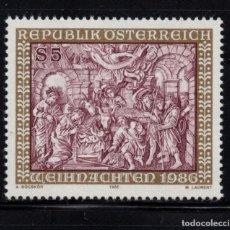 Sellos: AUSTRIA 1698** - AÑO 1986 - NAVIDAD - ESCULTURA RELIGIOSA - LA ADORACION DE LOS REYES. Lote 297391238