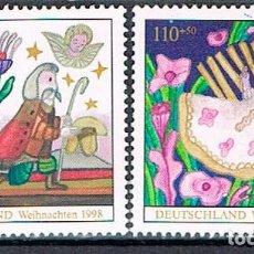 Timbres: ALEMANIA IVERT Nº 1855/6, NAVIDAD 1998, NUEVO ***. Lote 92417755
