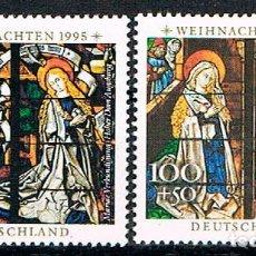 Sellos: ALEMANIA IVERT Nº 1663/4, NAVIDAD 1995: VIDRIERAS DE LA CATEDRAL DE AUGSBOURG, NUEVO ***. Lote 92736330