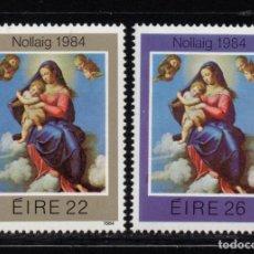 Sellos: IRLANDA 553/54** - AÑO 1984 - NAVIDAD - PINTURA RELIGIOSA - OBRA DE SASSOFERRATO. Lote 95794503