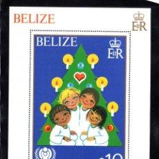Sellos: BELICE HB 13** - AÑO 1980 - NAVIDAD - AÑO INTERNACIONAL DEL NIÑO. Lote 95920907