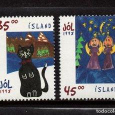 Sellos: ISLANDIA 853/54** - AÑO 1998 - NAVIDAD. Lote 95979319