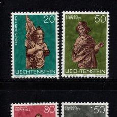 Sellos: LIECHTENSTEIN 629/32*** - AÑO 1977 - NAVIDAD - ESCULTURAS RELIGIOSAS DE ERASMUS KERN . Lote 95979459