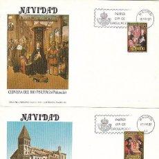 Sellos: EDIFIL 2633/4, NAVIDAD 1981 CERVERA DE RIO PISUERGA (PALENCIA) PRIMER DIA DE 18-11-1981 FLASH. Lote 96024603