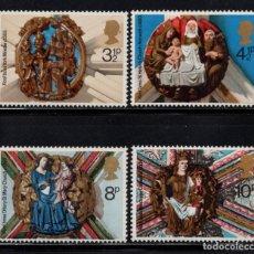 Sellos: GRAN BRETAÑA 742/45** - AÑO 1974 - NAVIDAD - ORNAMENTOS DE IGLESIAS . Lote 96052863