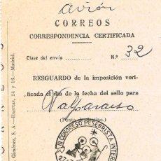 Sellos: AÑO 1957, III CONGRESO PESEBRISTA INTERNACIONAL EN BARCELONA, EN RESGUARDO DE CERTIFICADO. Lote 96096183