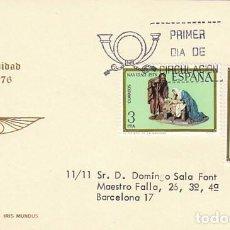 Sellos: EDIFIL 2368/9, NAVIDAD 1976, FIGURAS DE UN BELEN, PRIMER DIA DE 8-10-1976 IRIS MUNDUS. Lote 100647319