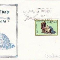 Sellos: EDIFIL 2368/9, NAVIDAD 1976, FIGURAS DE UN BELEN, PRIMER DIA DE 8-10-1976 SFC. Lote 100647351