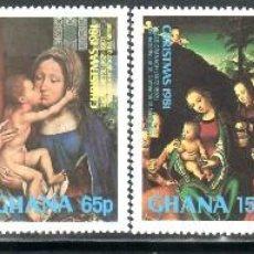 Sellos: SELLOS NAVIDAD GHANA 1981 720/25 MURILLO 6V.. Lote 103180663