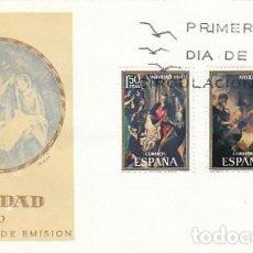 Sellos: EDIFIL 2002/3, NAVIDAD 1970 (GRECO Y MURILLO), PRIMER DIA DE 30-10-1970 EN SOBRE DEL SFC . Lote 112906631