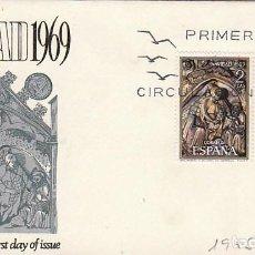 Sellos: EDIFIL 1944/45, NAVIDAD 1969 (CATEDRAL DE GIRONA), PRIMER DIA DE 3-11-1969 SOBRE DE ALFIL . Lote 151818162