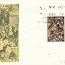 Sellos: EDIFIL 1944/45, NAVIDAD 1969 (CATEDRAL DE GIRONA), PRIMER DIA DE 3-11-1969 SOBRE DEL SFC . Lote 155245796