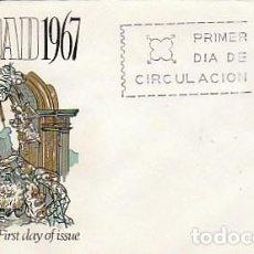 Sellos: EDIFIL 1838, NAVIDAD 1967, NACIMIENTO DE SALZILLO, PRIMER DIA DE 5-12-1967 SOBRE DE ALFIL. Lote 155240030