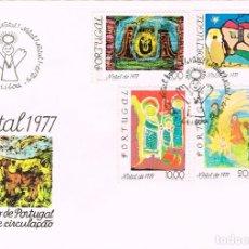 Sellos: PORTUGAL IVERT Nº 1364, NAVIDAD 1977, 'RIMER DIA DE 14-12-1977. Lote 115119127