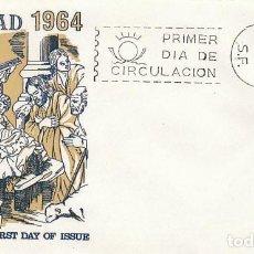 Sellos: EDIFIL 1630, NAVIDAD 1964, NACIMIENTO DE ZURBARAN, PRIMER DIA DE 4-12-1964 SOBRE DE ALFIL. Lote 118280819