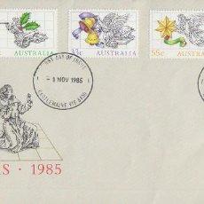 Sellos: AUSTRALIA, NAVIDAD 1985, ADORNOS NAVIDEÑOS, PRIMER DIA DE 1-11-1985. Lote 121502695