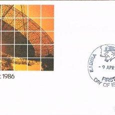 Sellos: AUSTRALIA, EL COMETA HALLEY, PRIMER DIA DE 9-4-1986. Lote 121502827