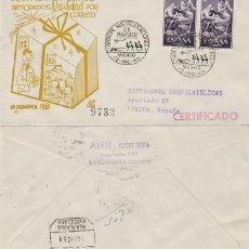 Sellos: AÑO 1961, ANTICIPE SUS FELICITACIONES DE NAVIDAD, EN SOBRE DE PANFILATELICAS CIRCULADO. Lote 121503651