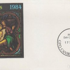 Sellos: AUSTRALIA, NAVIDAD 1984, VIDRIERA, PRIMER DIA DE 17-9-1984. Lote 121909503